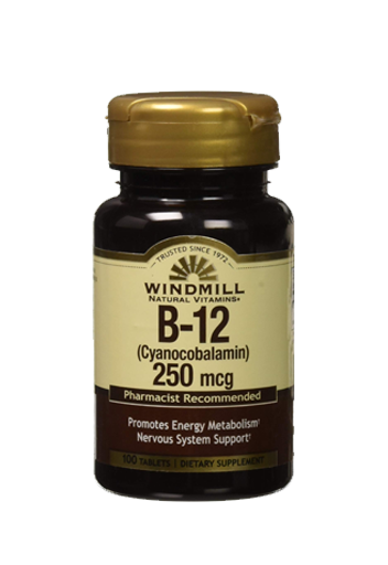 Windmill Health Products B- 12 250 Mcg 100 Caps