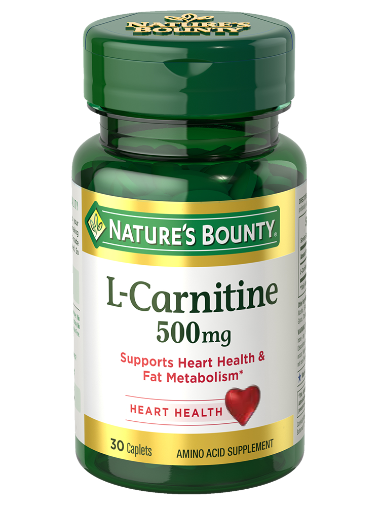 NATURE'S BOUNTY, L - CARNITINE TABS     500 mg, 60's 30's