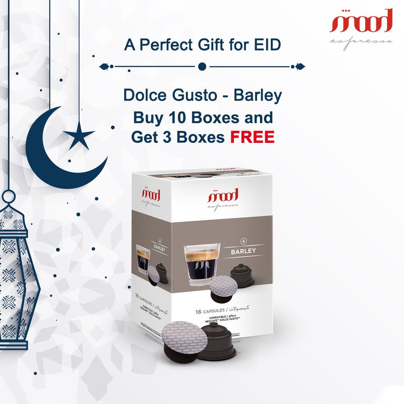 Buy 10 Boxes of DOLCE GUSTO (BARLEY) and Get 3 Boxes Free