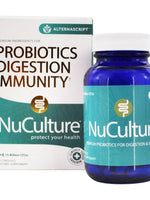 ALTERNASCRIPT - NuCulture Probiotic, Supports Immune System and Digestion, 30 Capsules