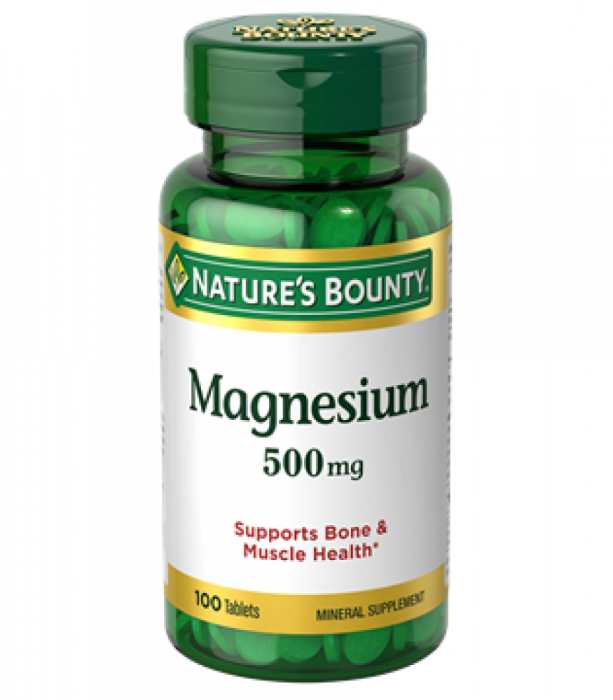 NATURE'S BOUNTY, MAGNESIUM OXIDE       500 mg, 50's 100's