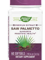 NATURE'S WAY SAW PALMETTO EXTRACT 60 SOFTGELS