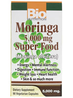 Bio Nutrition Moringa 5000Mg Super Food Vegi-Caps, 90 Count