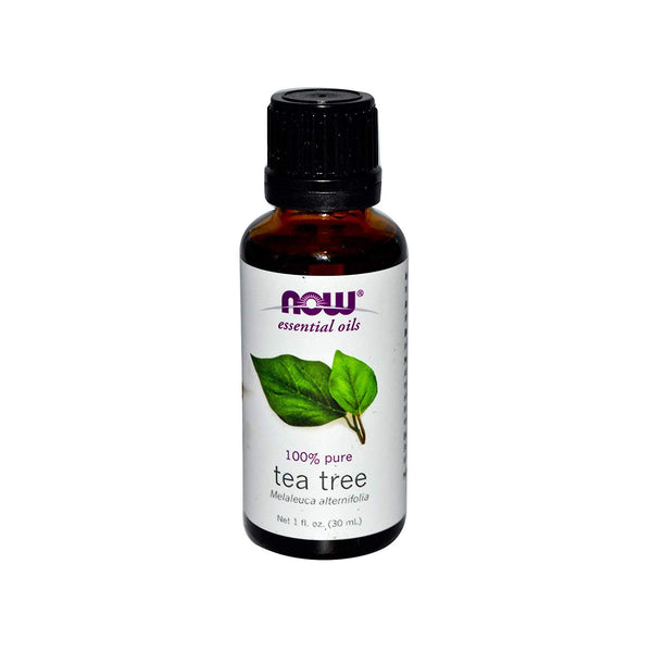 Now Essential Oils, Tea Tree Oil, 100% Pure, Vegan, 1-Ounce