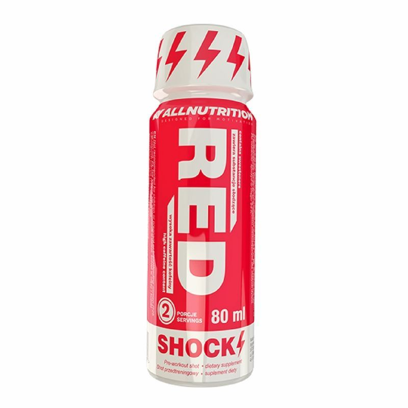 Pre-workout Red Shock Shot 80 ml - All Nutrition (Expiring in October)