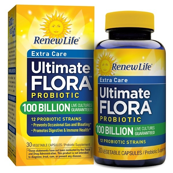Renew Life Ultimate Flora Probiotic 100 Billion,30  Caps