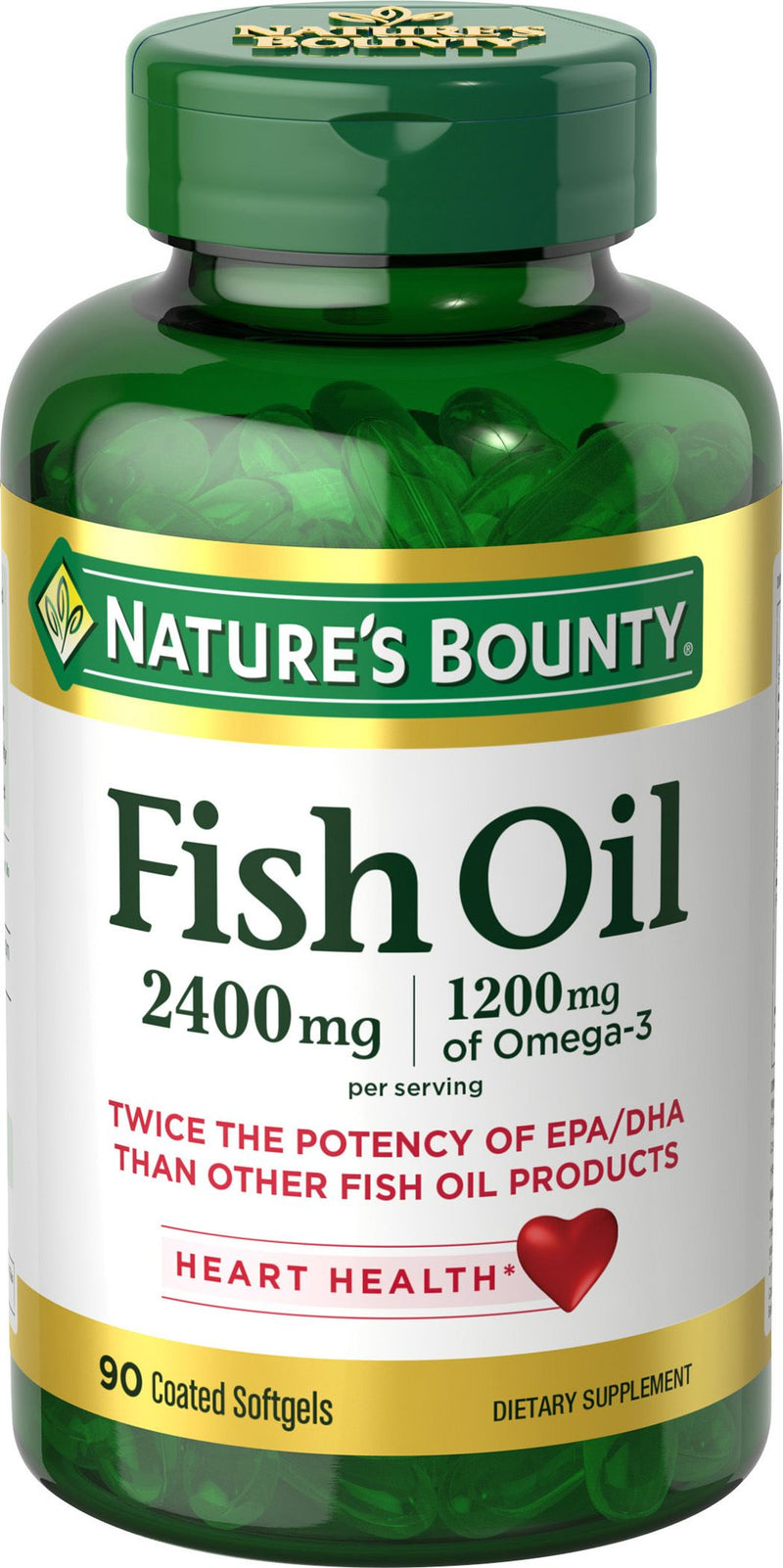NATURE'S BOUNTY, DBL STR ODORLESS FISH OIL, 90's 90's