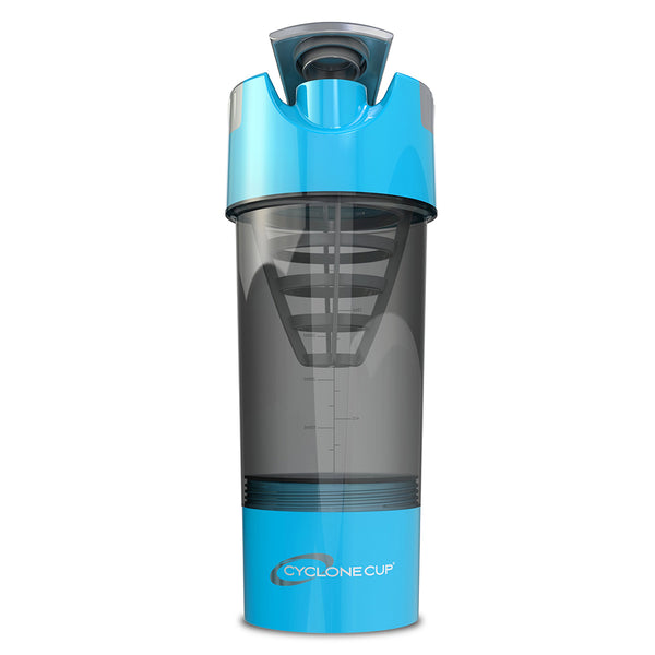 Cyclone Cup Protein Shaker Bottle - Aqua Smoked, 32 Oz