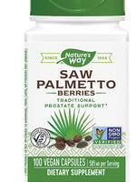 NATURE'S WAY SAW PALMETTO BERRIES 100 VCAPS