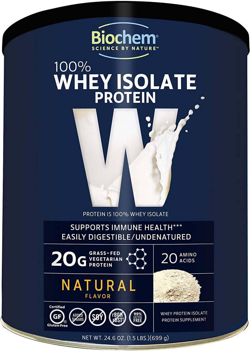 BIOCHEM SPORTS - 100% WHEY PROTEIN,NATURAL FLAVOR - 24.6 OZ.