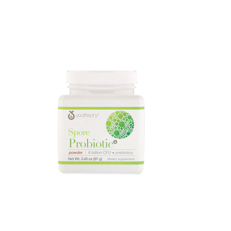 Youtheory, Spore Probiotic Powder, 6 Billion Cfu, 3.45 Oz (97 G).