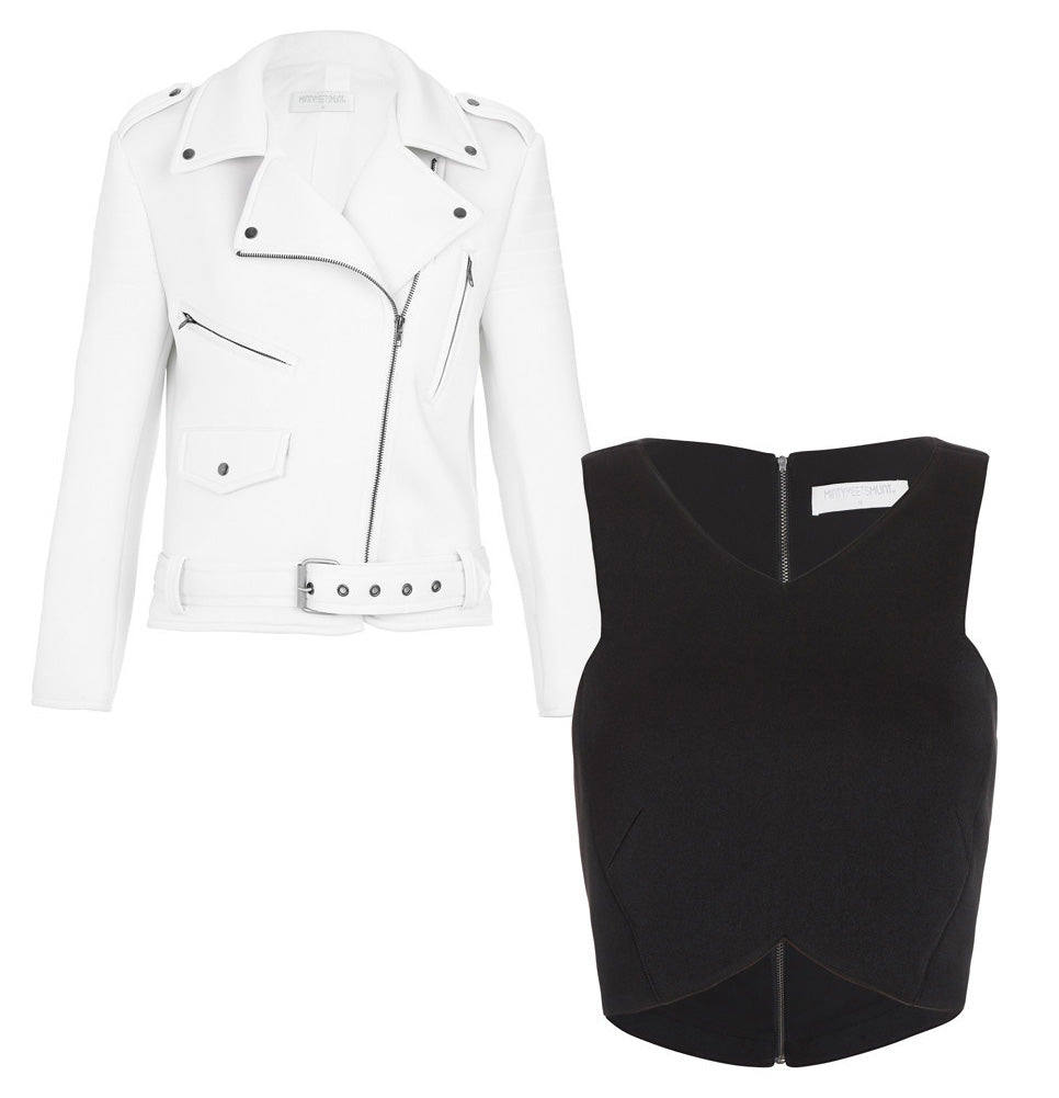 Monochrome Coats and Cropped Tops by Minty Meets Munt