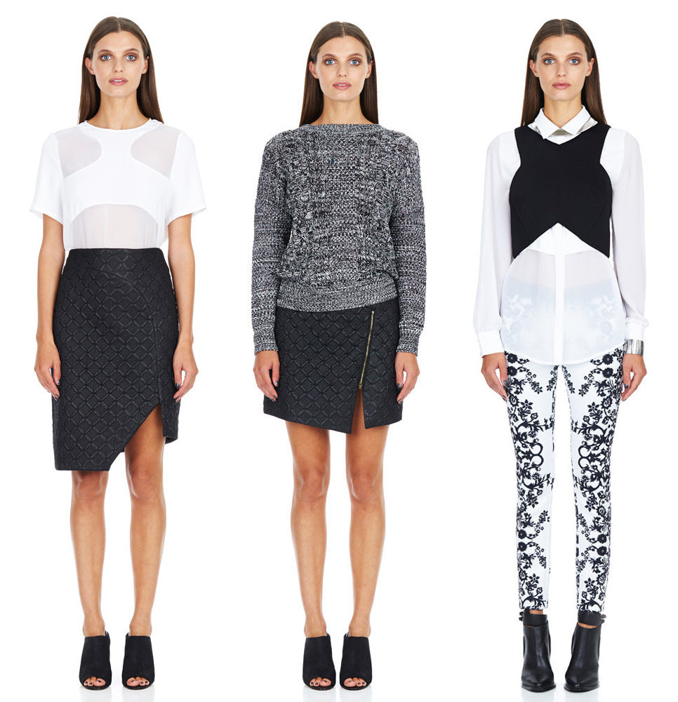 Monochrome Knits and Pants by Minty Meets Munt
