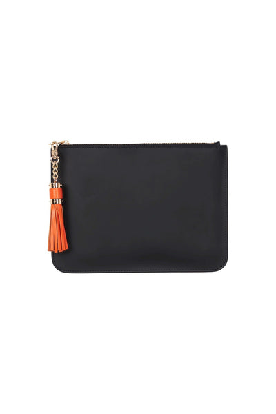 H&L Leather Tassel Pouch Slate