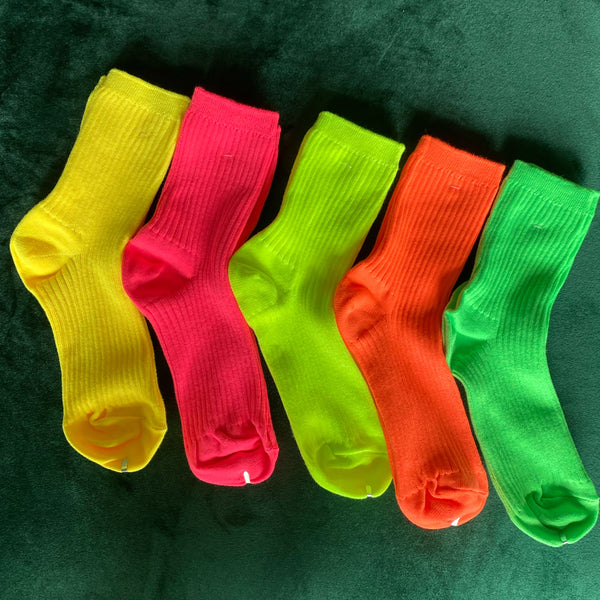 Neon Tube Socks
