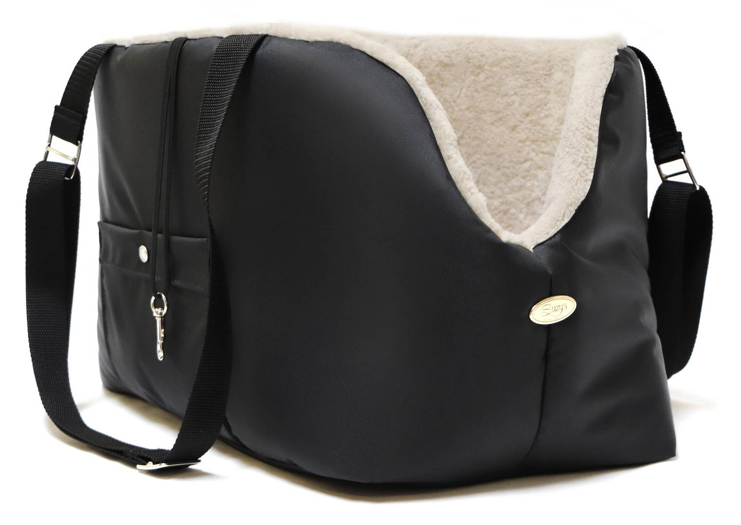 Rainy Bear Black and Beige Dog Carrier