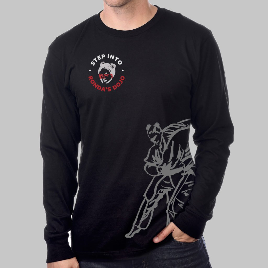 """Dojo"" Long Sleeve Crew Neck T-Shirt"