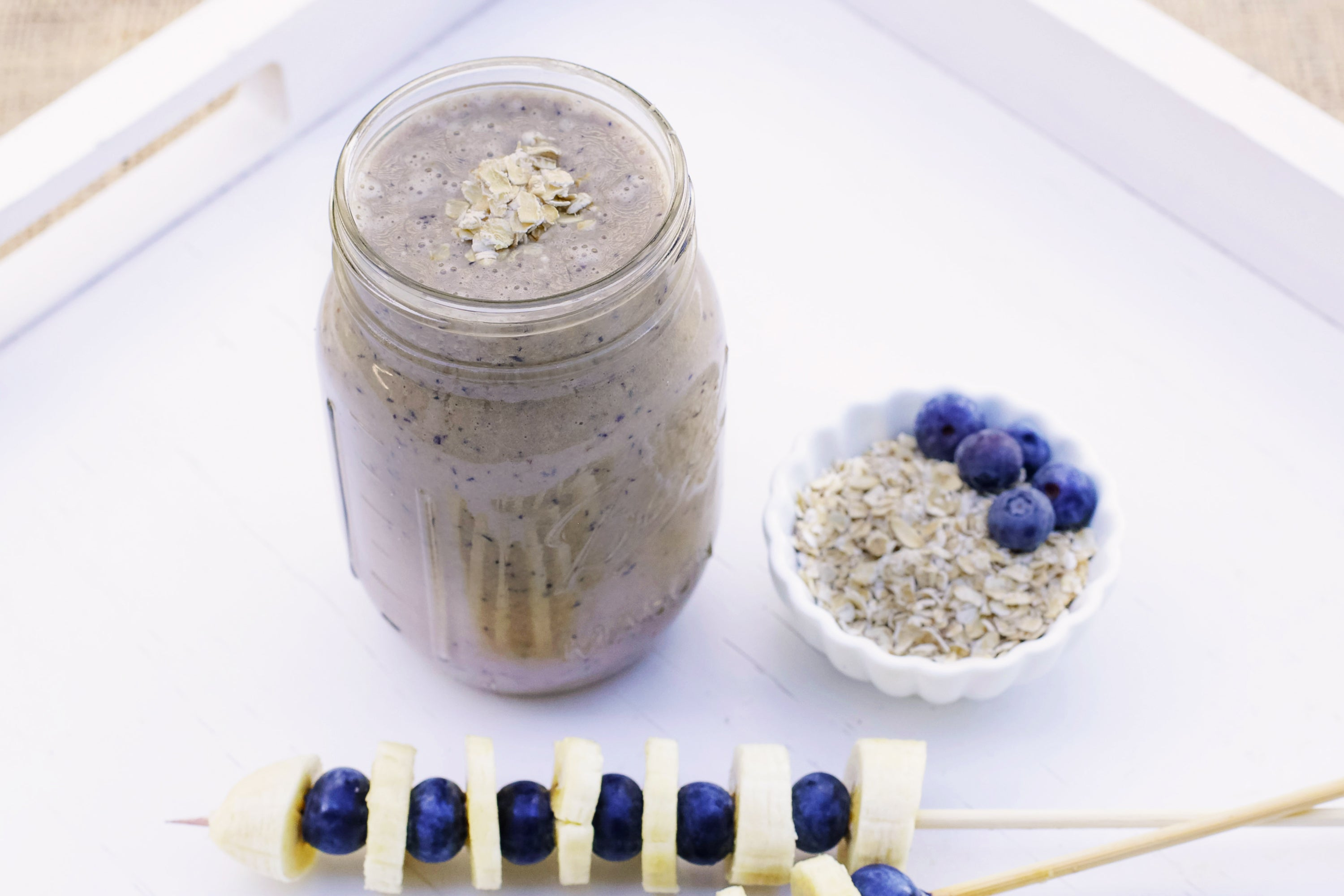 Blueberry Cashew Cheesecake Smoothie