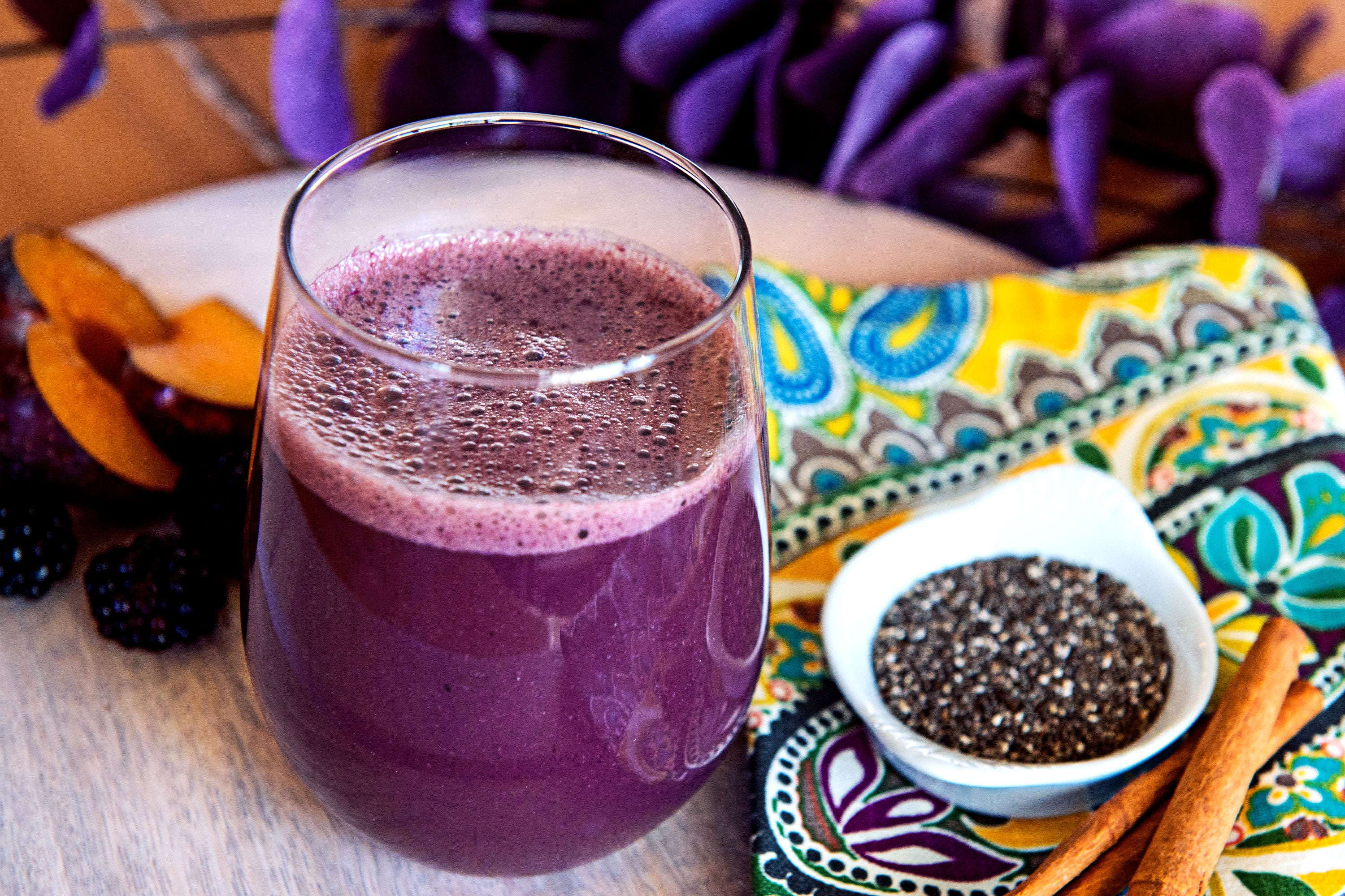 Plum Chia Seed Smoothie