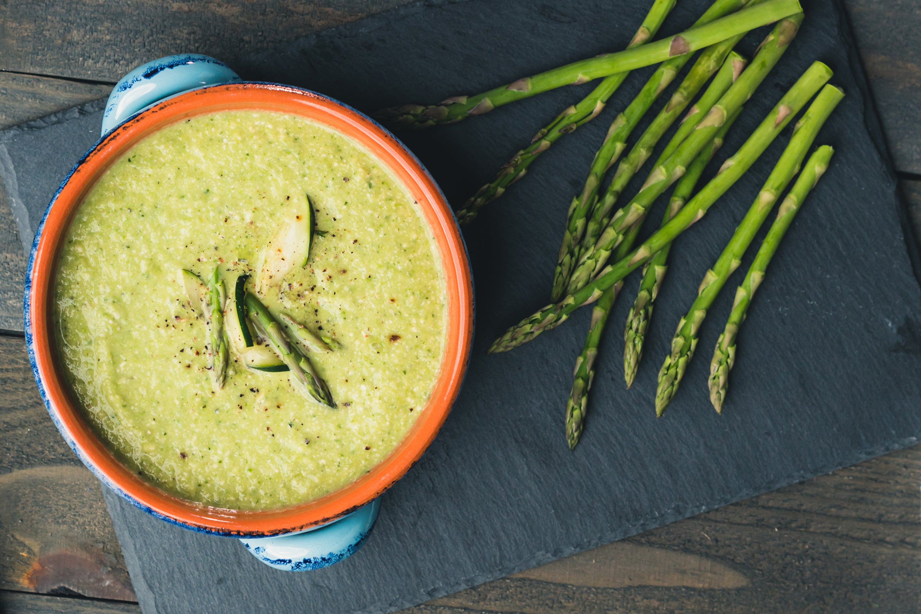 Curry-fied Asparagus Soup