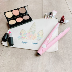 Little Lily Shop Large Fall Collection Pretend Makeup with Gold Horn Unicorn Lux Makeup Bag