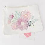 Little Lily Shop Little Miss Sunshine Collection Pretend Makeup with Lilac Floral Lux Makeup Bag