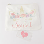 Little Lily Shop Personalized Unicorn Makeup Bag
