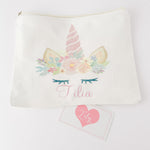 Little Lily Shop Miss Sunshine Glam Petite Pretend Makeup with Pink Horn Unicorn Lux Makeup Bag