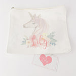 Little Lily Shop Little Miss Sunshine Collection Pretend Makeup with Side Profile Unicorn Lux Makeup Bag