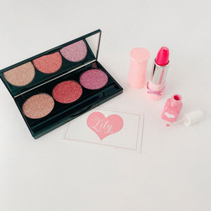 Little Lily Shop Scarlett Everly Collection - 3 Piece Set Pretend Makeup