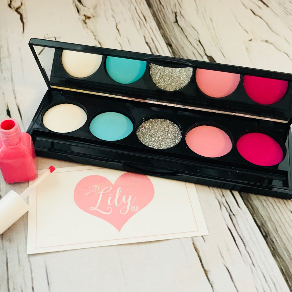 Little Lily Shop Pastel Party Pink Petite Pretend Makeup and Nail Polish