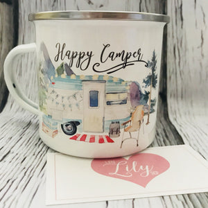 Little Lily Shop Happy Camper Enamel 12oz Camping Mug