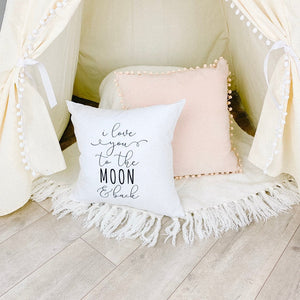Little Lily Shop I Love You To The Moon and Back Pillow Case