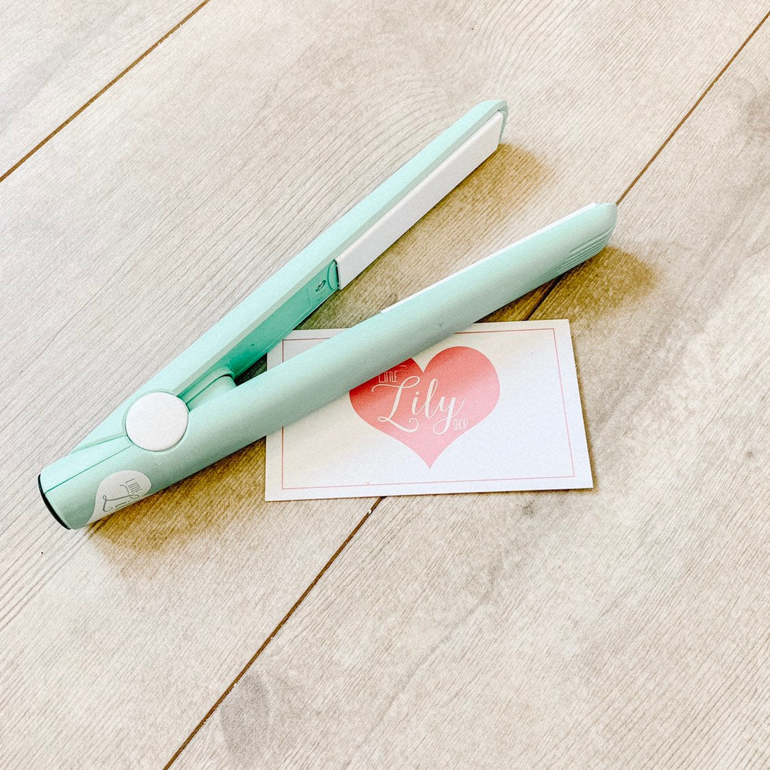 Little Lily Shop Mint Green Kids Play Hair Straightener