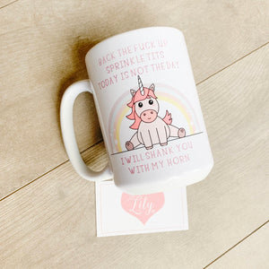 Little Lily Shop Back the F* Up Sprinkle Tits Coffee Mug