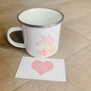 Little Lily Shop Unicorn Enamel Camping Mug
