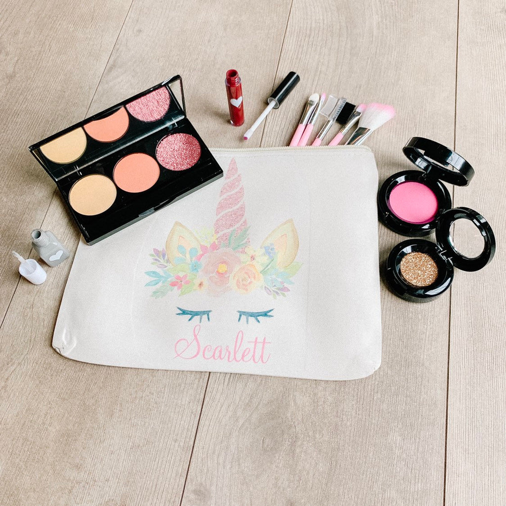 Little Lily Shop Fall Collection Pretend Makeup with Pink Horn Unicorn Lux Makeup Bag