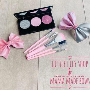 Little Lily Shop Pretty In Pink Matching Bow & Pretend Makeup Collection
