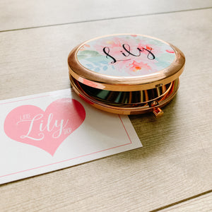 Little Lily Shop Customized Pocket Mirror