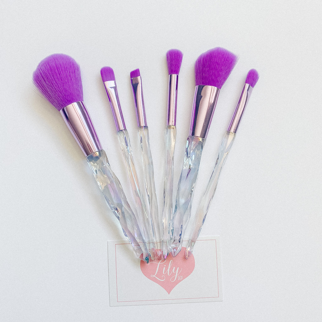 Periwinkle Crystal makeup brushes