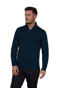 Raging Bull Cotton Cashmere Quarter Zip Navy