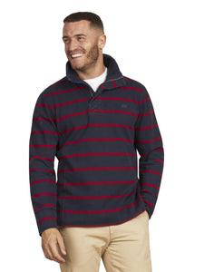 Raging Bull Stripe Quarter Zip - Navy/Red