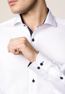 Eterna Slim Fit Shirt White 8100/00 - JR MCMAHON EXCLUSIVE MENSWEAR