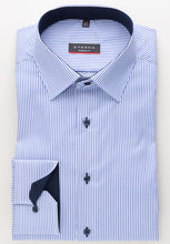 Load image into Gallery viewer, Eterna Modern Fit Shirt Blue Stripe 8992/16