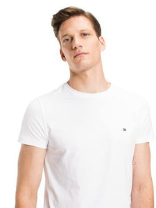 Tommy Hilfiger Stretch Slim Crew Neck T-Shirt White - JR MCMAHON EXCLUSIVE MENSWEAR