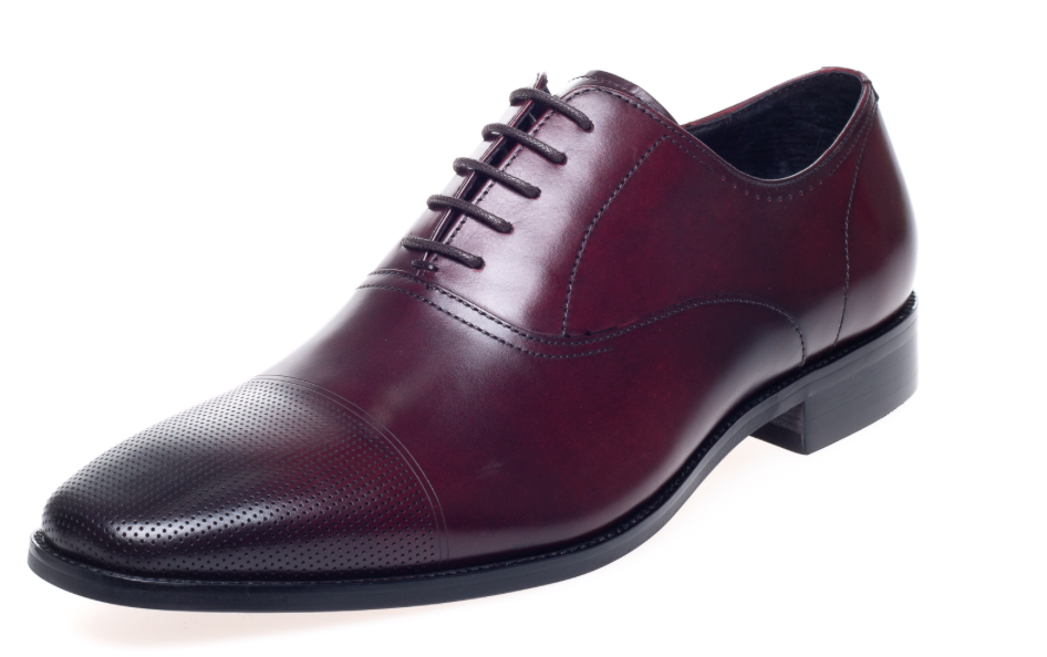 John White Bay Bordo Capped Oxfords