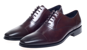 John White Bay Brown Capped Oxfords