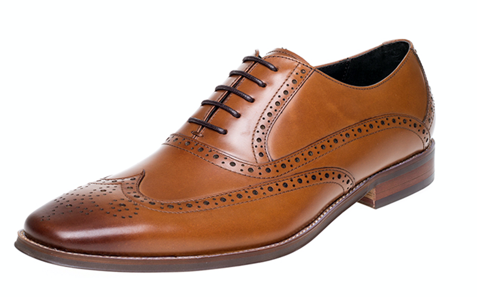 John White Hercules Tan Oxford Brogue