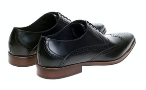 John White Hercules Black Oxford Brogue