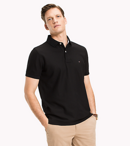 Tommy Hilfiger Black Polo Regular Fit